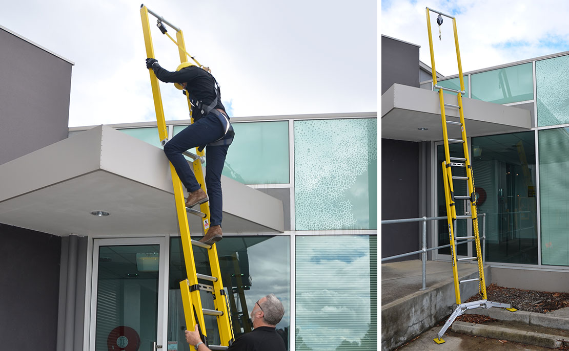 Demonstration of the ladder developed for Lend Lease.