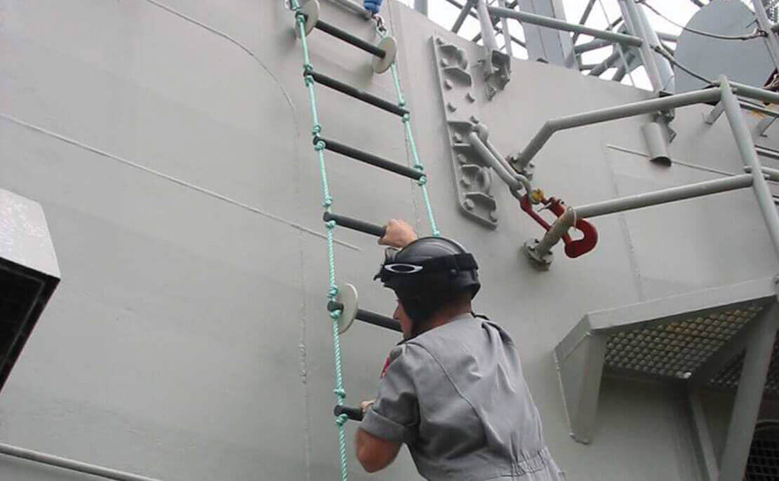 Customise rope ladder developed for the Defence force.